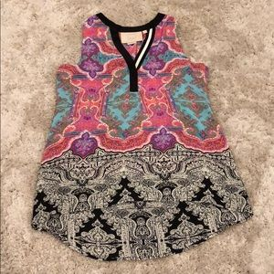 """Vanessa Virginia """"Finn"""" 100% Silk Tunic"""